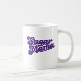 Mamá del azúcar taza básica blanca