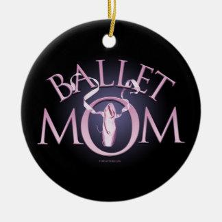 Mamá del ballet adorno redondo de cerámica