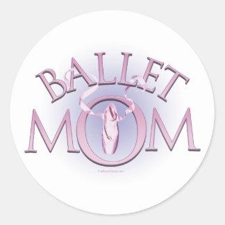 Mamá del ballet pegatina redonda