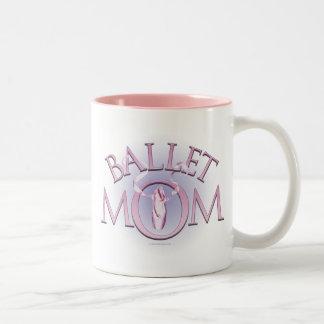 Mamá del ballet taza dos tonos