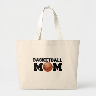Mamá del baloncesto bolsa tela grande