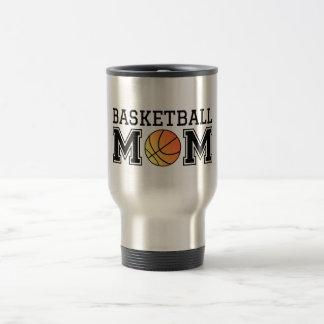Mamá del baloncesto, diseño del texto para la taza térmica