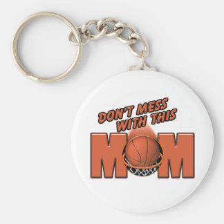 Mamá del baloncesto llaveros personalizados