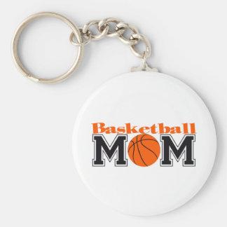 Mamá del baloncesto llavero redondo tipo pin