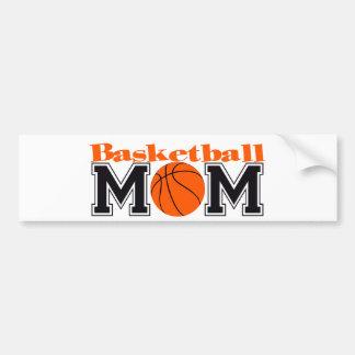 Mamá del baloncesto pegatina de parachoque