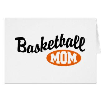 Mamá del baloncesto tarjetas