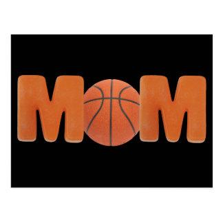 Mamá del baloncesto tarjeta postal