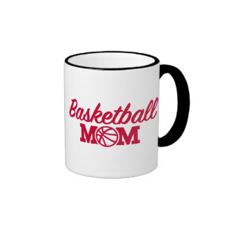 Mamá del baloncesto taza de dos colores