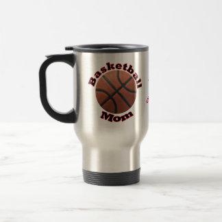 Mamá del baloncesto taza de viaje
