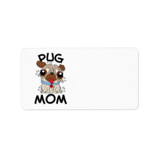 Mamá del barro amasado etiqueta de dirección
