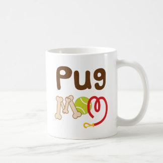 Mamá del barro amasado (raza del perro) taza básica blanca