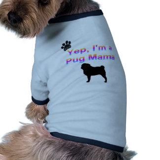 mamá del barro amasado ropa de perros