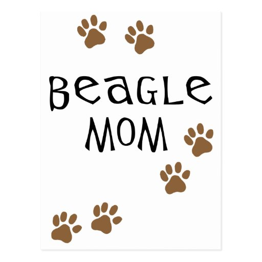 Mamá del beagle tarjetas postales