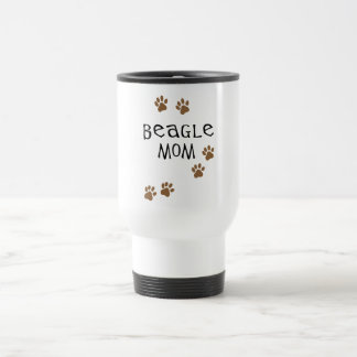 Mamá del beagle taza de viaje