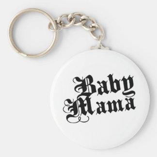 Mamá del bebé llavero personalizado