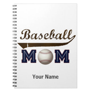Mamá del béisbol del estilo del vintage cuadernos