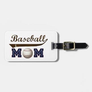 Mamá del béisbol del estilo del vintage etiquetas para maletas