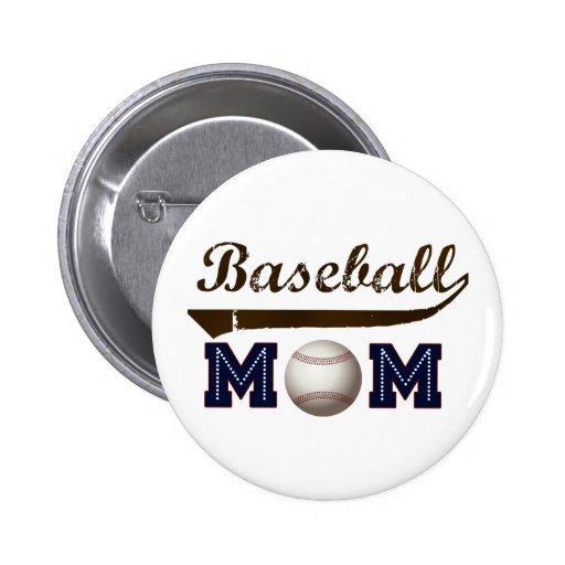 Mamá del béisbol del estilo del vintage pin