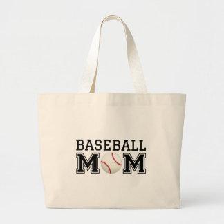 Mamá del béisbol, diseño del texto para la camiset bolsa de mano