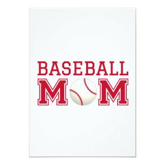 """Mamá del béisbol, diseño del texto para la invitación 5"""" x 7"""""""
