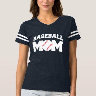 Mamá del béisbol divertida y linda playera