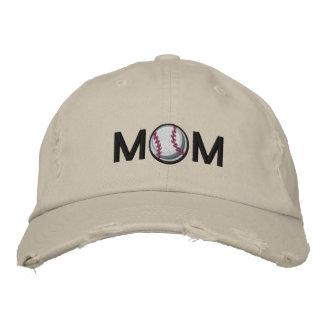 Mamá del béisbol gorra de béisbol bordada