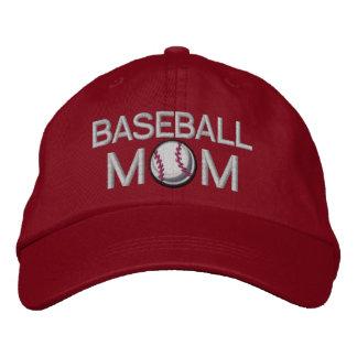 Mamá del béisbol gorras bordadas