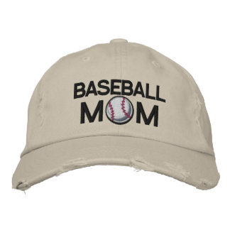 Mamá del béisbol gorra de beisbol