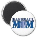 Mamá del béisbol iman de nevera