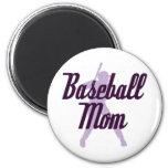Mamá del béisbol imán para frigorífico