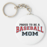 mamá del béisbol llavero personalizado