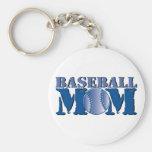 Mamá del béisbol llaveros