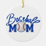Mamá del béisbol ornaments para arbol de navidad