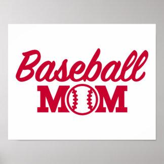 Mamá del béisbol póster