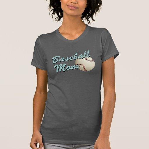 Mamá del béisbol retra camisetas