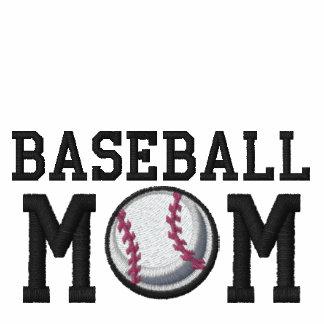 Mamá del béisbol sudadera bordada con capucha de mujer