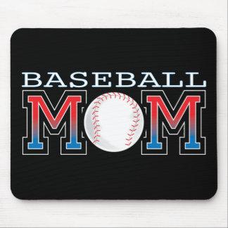 Mamá del béisbol alfombrilla de raton