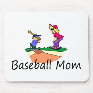 Mamá del béisbol tapetes de raton