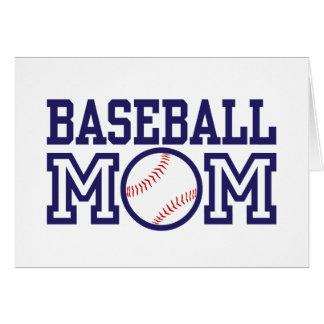 Mamá del béisbol felicitacion
