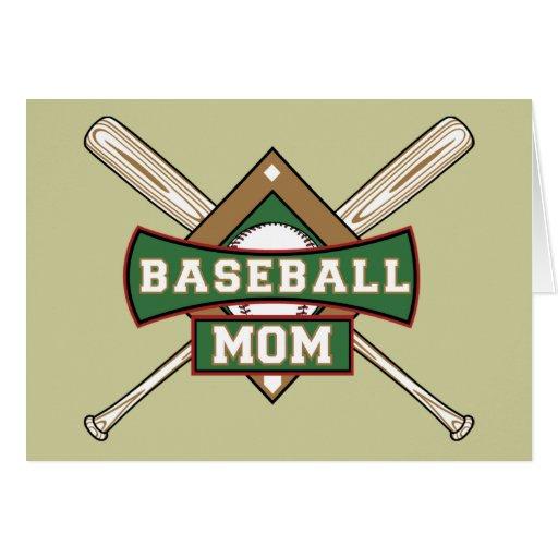 Mamá del béisbol tarjeta