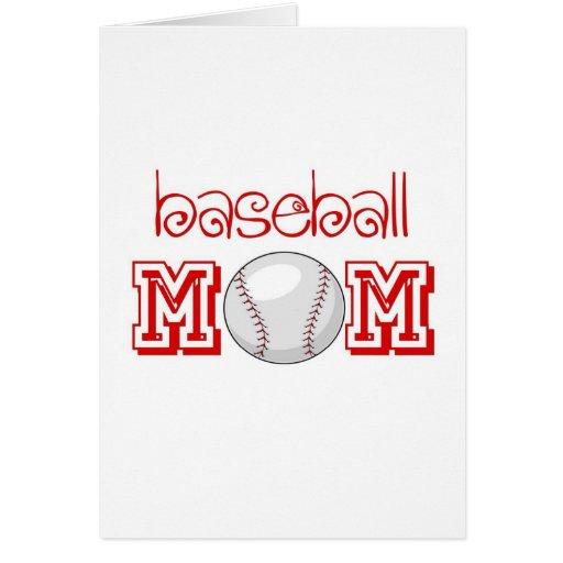 Mamá del béisbol tarjeta de felicitación