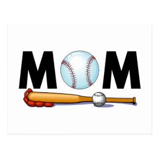 Mamá del béisbol tarjeta postal
