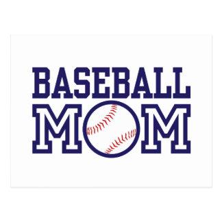 Mamá del béisbol postal