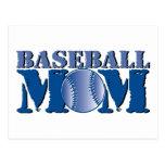 Mamá del béisbol tarjetas postales