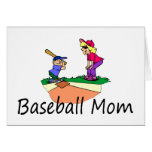 Mamá del béisbol tarjetón