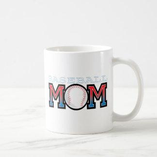 Mamá del béisbol taza básica blanca