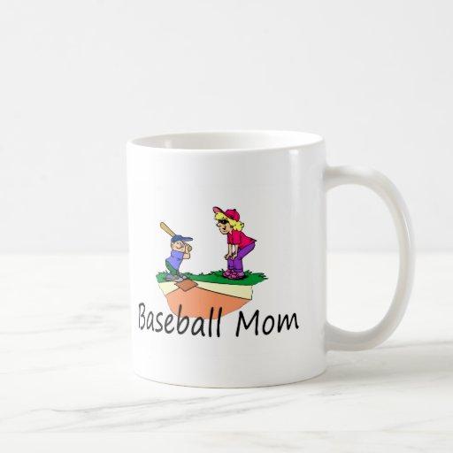 Mamá del béisbol taza