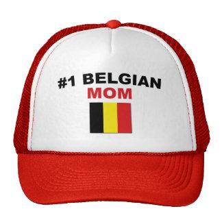 Mamá del belga #1 gorros bordados