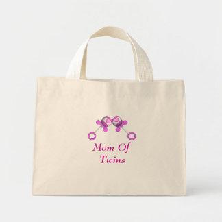 Mamá del bolso gemelo de los chicas bolsa tela pequeña
