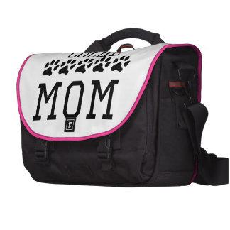 Mamá del border collie bolsas para portátil